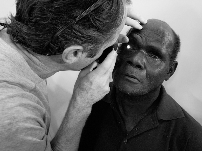 Post-op examination. Buka, The Autonomous Region of Bougainville (NZ Eye Team)