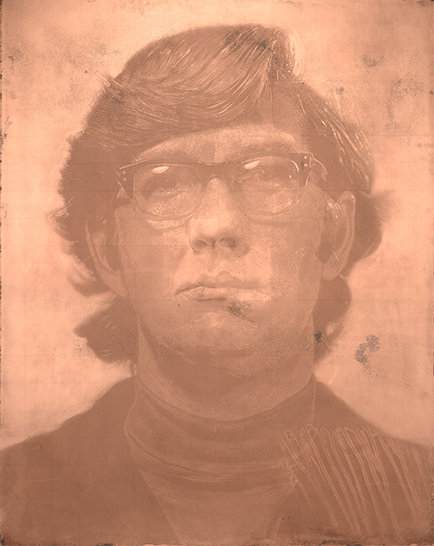Chuck Close: Copper plate for