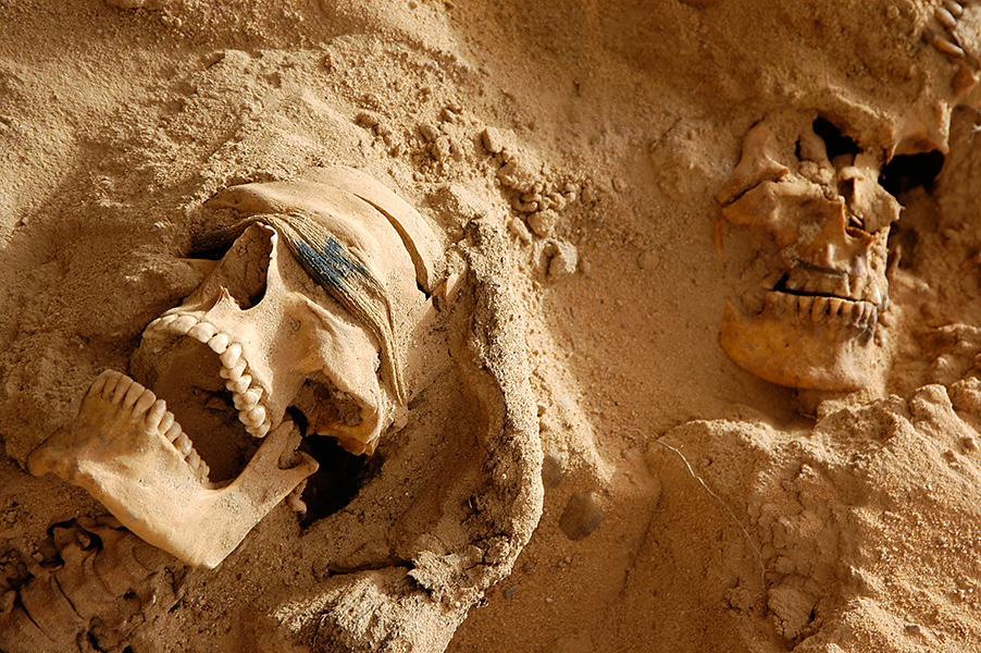 Mass grave. Southern Iraq (Mass Graves Investigation Team/USACE)