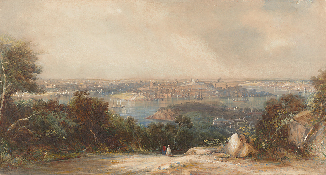 Conrad Martens: Sydney, 1849 (National Library of Australia)